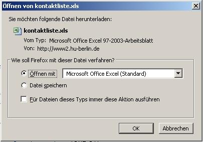 Das Speichern einer Excel-Datei